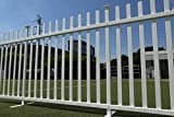 Zippity Outdoor Products ZP19026 Lightweight Portable Vinyl Picket Fence Kit w/Metal Base(42' H x 92' W), White