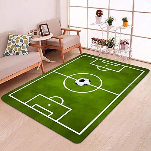 Lialun Kreative Fußballplatz Drucken Teppiche Tapetes Vordereingangstür Bodenmatte Fußmatte Bape Teppich für Bad Küche Fußballplatz 2 50 cm x 80 cm