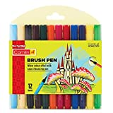 Camlin 4019272 Kokuyo Brush Pen, 12 Shades (Multicolor)