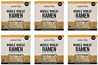 Nona Lim Fresh Whole Wheat Ramen Noodles - Vegan, Dairy Free (10 oz, 6 Count)