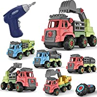 Temi 226-Pieces Construction Truck Learning Playsets with Electric Drill
