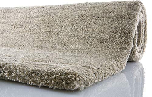Tuaroc Berber-Teppich Maroc de Luxe mit ca. 160.000 Florfäden/m² Sand 90 cm x 160 cm braun