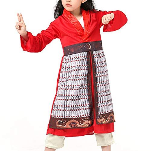 KRILY Herona China Vestido Herona Cosplay del Equipo del Traje De La Navidad De Halloween para Adultos Ropa De rol Hanfu Vestido De Baile Traje 4-10Years,M