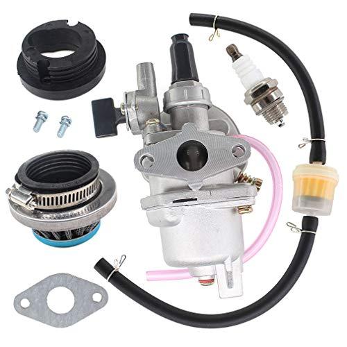 AISEN Vergaser mit Luftfilter Benzinfilter Schlauch Zündkerze für 2 Takt 43cc 47cc 49cc Mini Motorrad ATV Quad Dirtbike Pocketbike