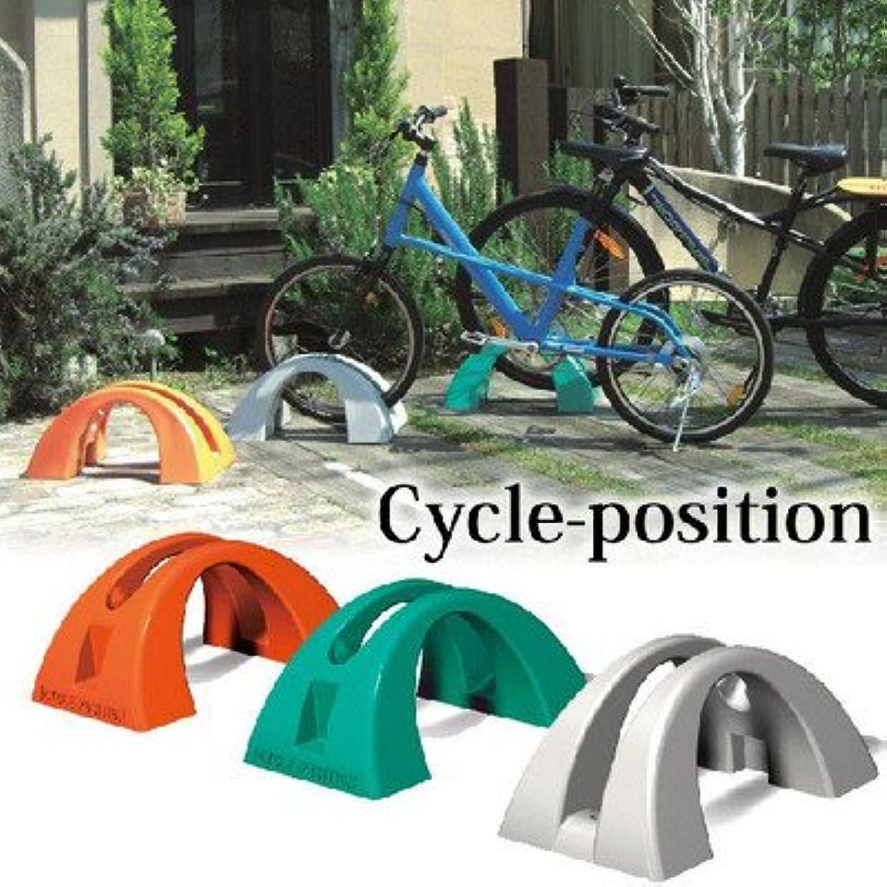 ワーディアンケース著名な選択自転車スタンド 1台用 樹脂製 サイクルポジション グレー