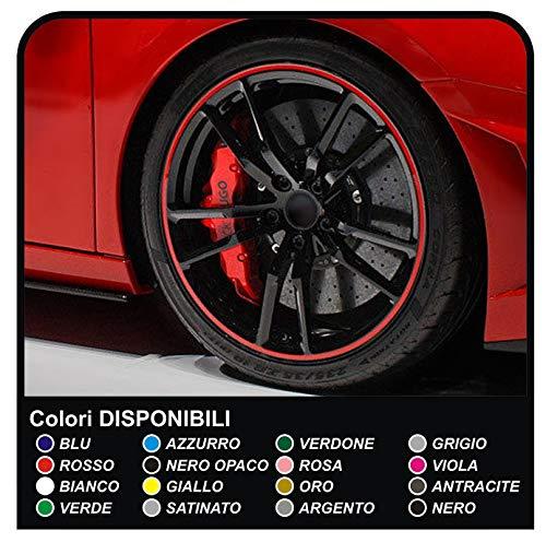 19 Inch Diameter Rim Ringz Alloy Wheel Protectors Racing Red