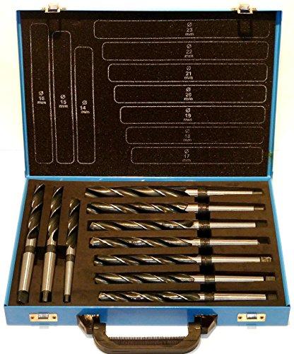 SYTO24, Spiralbohrer 10 tlg. HSS Konus-Bohrer, Stahlbohrer 14-23mm, Morsekegel MK MK1, MK2, DIN345