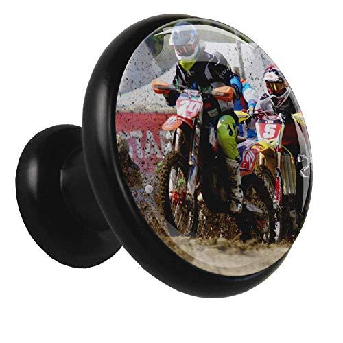 Xingruyun Perillas de gabinete Rally de Motos Pomos y Tiradores Manijas de Las Puertas Pomos para Muebles Alacena Baño Cocina Gabinetes Cajón del Armario 4pcs 3.2×3.0cm