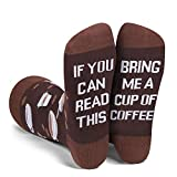 Funny Saying If You Can Read This Bring Me Coffee Socks, Funny Coffee Gifts For Women Coffee Lover