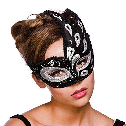 Livorno Eyemask - Silver / Black