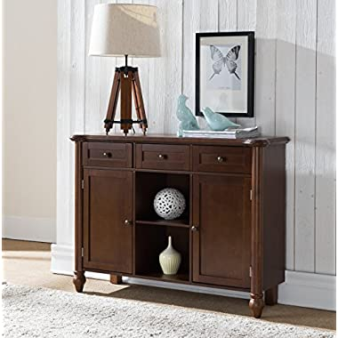 Kings Brand Furniture Wood Sideboard Buffet Cabinet Console Table, Walnut