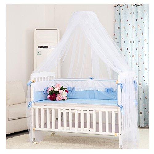 LEORX Moskitonetz - Kleinkind Bett Kinderbett Baldachin Moskitonetz – eingerichtet (weiß)