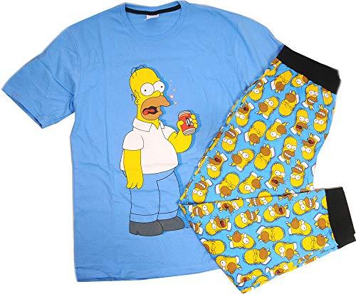 Simpsons Pyjama Herren S M L XL Jug.152 164 Nachtwäsche Shirt Hose Bart (L)