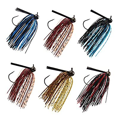 Shaddock 6pcs/lot Fishing Hard Spinner Baits Lures Kit Mixed Color Spoon Spinnerbait Skirt Jig Fishing Lures for Saltwater&Freshwater Fishing