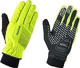 GripGrab Ride Windproof Winter Glove Guantes de Ciclismo de Invierno, Unisex Adulto, Amarillo Hi-Vis, Medium