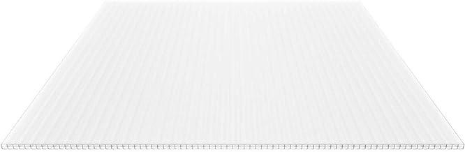 Hohlkammerplatte Breite 980 mm Stegf/ünffachplatte Extra stark Material Polycarbonat Farbe Opal Wei/ß St/ärke 16 mm Stegplatte