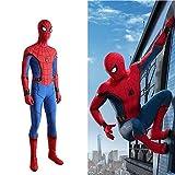 Toysskyr Superhéroe Spiderman Adulto Niño Disfraz Halloween Navidad Cosplay Props 3D Prin Lycra Medias Mono Vestido de fiesta Adulto Niños Hombre Mujer (Color: Azul, Tamaño: M)