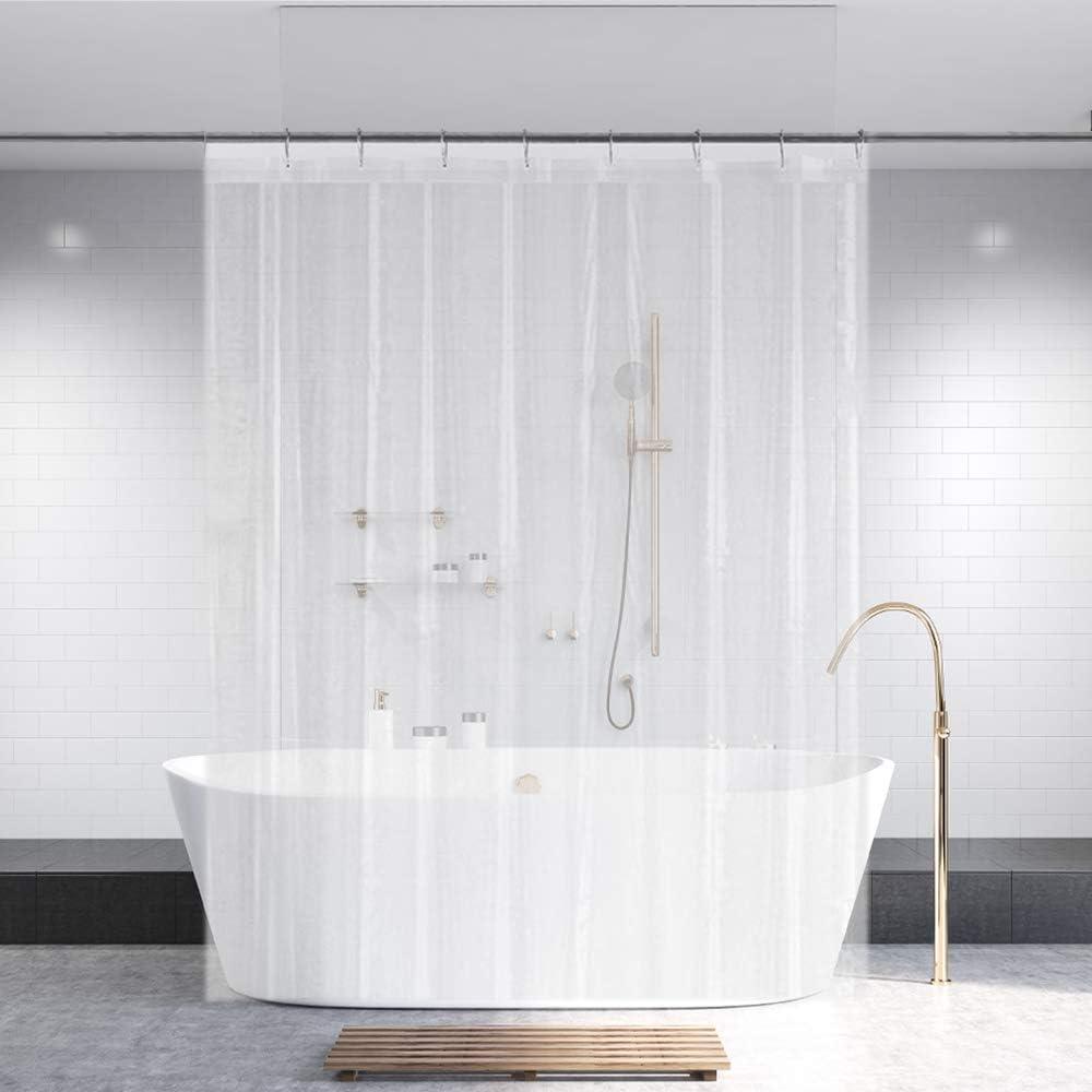 Ga-Geetopia PEVA Clear Plastic Shower Curtain Liner 72