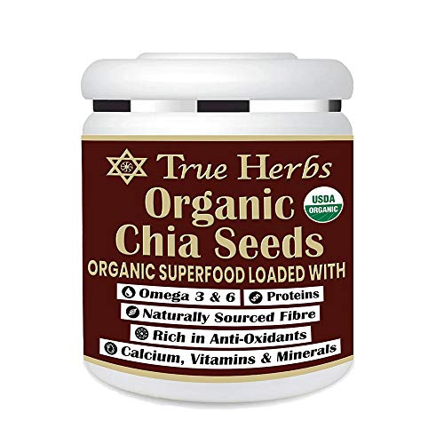 True Herbs USA Imported Organic Chia Seeds (300 GM) WITH USDA Certification