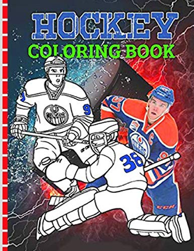 Hockey coloring book: NHL Coloring Book Famous National Hockey League Players and Team