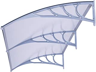 VIVOHOME Polycarbonate Window Door Awning Canopy Grey 40 Inch x 80 Inch