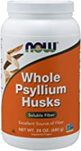 NOW Supplements, Whole Psyllium Husks, Non-GMO Project Verified, Soluble Fiber, 24-Ounce