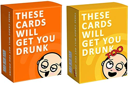 These Cards Will Get You Drunk - Complete Bundle-Fun Adult Drinking Game for Parties,Party Card Game - for College, Camping, Birthday, Parties - Funny for Men & Women