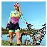 LYYJIAJU Ciclismo Skinsuit Suit Ciclismo Suit da donna, in jersey in bicicletta, set da ciclismo, abiti da donna triathlon (Color : C, Size : 4XL)