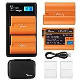 Vemico EN-EL15 - Cargador de batería para cámaras D750, D7500, D850, D810, D810A, D800, D800E, D7200, D500, D610, D600 (2 x 2100 mAh)