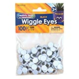 Chenille Kraft AC3474-02DI Wiggle Eyes, Round, 15 mm Size, Black (Pack of 100)