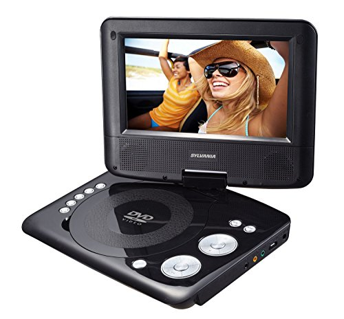 Great Features Of Sylvania Portable DVD Player. 7 Swivel Screen