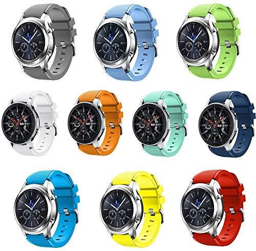 Preisvergleich Produktbild Chainfo kompatibel mit Amazfit Pace / Stratos / GTR 47mm Armband,  Silikon Uhrenarmband Sportarmband (22mm,  10PC01)