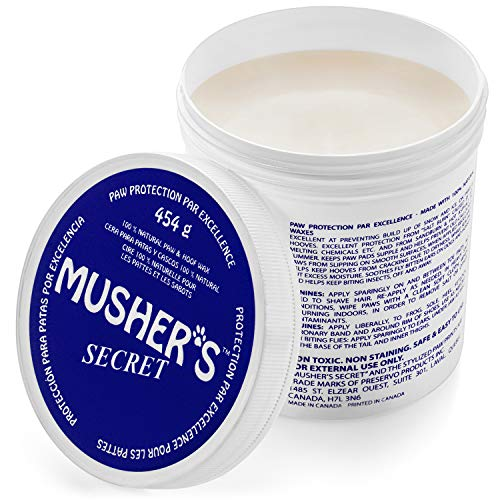 Mushers Secret Dog Paw Wax (16 Oz): All Season Pet Paw Protection Against Heat, Hot Pavement, Sand, Dirt, Snow - Great for Dogs on Trails and Walks!