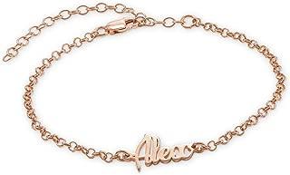 MyNameNecklace Women's Ankle Bracelet Custome Made in Sterling Silver Or 18K Gold Plating