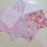 N/ 7pcs / Set de la Serie Rosa Tela de algodón para Coser Quilting Patchwork Textiles para el hogar Tilda muñeca de Trapo Cuerpo POCNQYL