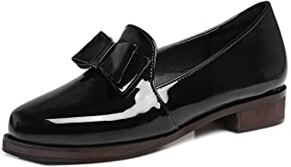 KingRover Womens Trendy Bownot Penny Loafers Moccasins Pull on Closed Toe Comfortable Commuter Shoes