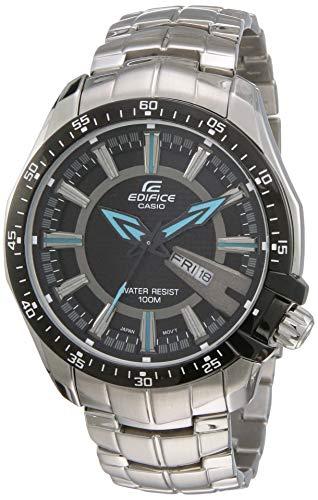 Casio Edifice Analog Black Dial Men's Watch - EF-130D-1A2VDF(ED417)