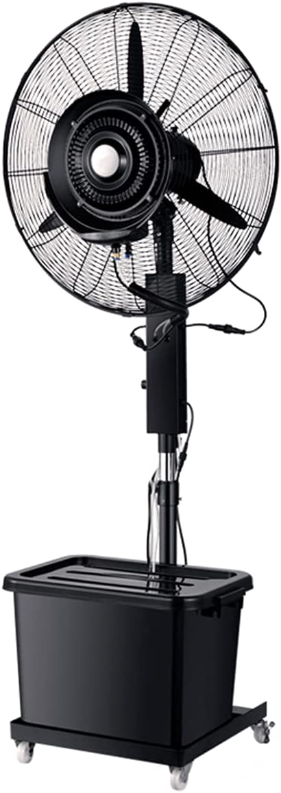 qwert Ventilador De Nebulización Alta Velocidad, Ventiladores Industriales De Pedestal, 90 ° Oscilación Generalizada, Altura Ajustable Ideal para Invernaderos, Comerciales, Patios Traseros, Patios