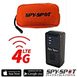 Spy Spot 4G Portable GPS Tracker and Pet Dog Collar Belt Pouch Case Waterproof Orange Real Time GPS Tracking