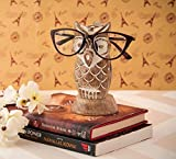 Eximious India Owl Eyeglass Spectacle Holder Wooden Handmade Bedside Display Home and Office Decor Desk Eyeglasses Holder Glasses Gifts for Kids Him Her Mom Dad Eyeglass Retainers for Men