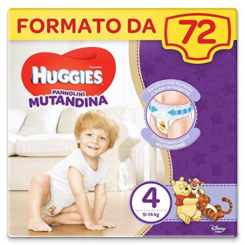 Huggies Pannolino Mutandina,  Taglia 4 (9-14 Kg),  Confezione da 72 Pannolini (2 x 36)
