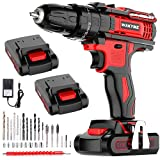 WAKYME 21V Impact Drill with 2 Batteries, Cordless Drill Driver 350...