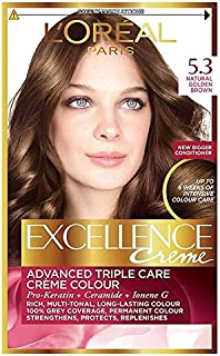 5.3ゴールデンブラウンロレアルの卓越性 x2 - L'Oreal Excellence Golden Brown 5.3 (Pack of 2) [並行輸入品]