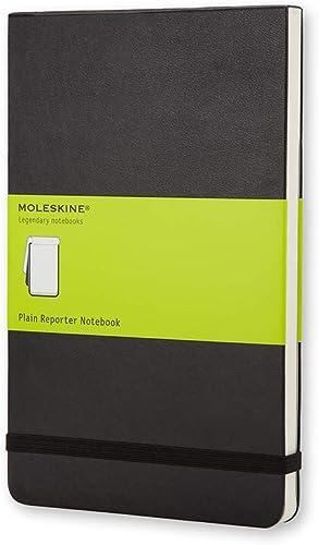 Moleskine - Carnet de Notes Reporter Papier à Pages Blanche - Journal Couverture Rigide et Fermeture par Elastique - ...