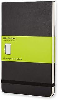 Moleskine Classic Reporter Hard Cover Notepad - Plain - Pocket - Black, (QP513)