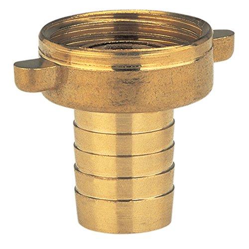 Gardena Messing-Schlauchverschraubung 2-teilig: Verschraubung aus hochwertigem Messing, 26.5 mm (G 3/4 Zoll)-Gewinde, für 19 mm (3/4 Zoll)-Schläuche (7144-20)
