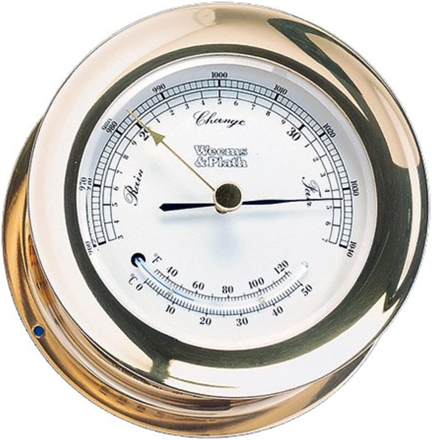 Weems & Plath Atlantis Collection Barometer and Thermometer Combination (Brass)
