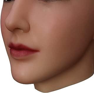 und Gesichts-Make-up f/ür Crossdresser Transvestite Halloween Drag Queen U-CHARMMORE Medical Silikon Beauty Beadpiece mit realistischem Kopf