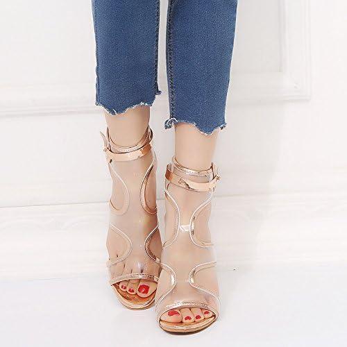 XYJHER Sandales Sandales pour Femme pour Femme à Talon Chaussures, Sandales, européens et américains Haut Talon Sandales, Big Cours de Sandales