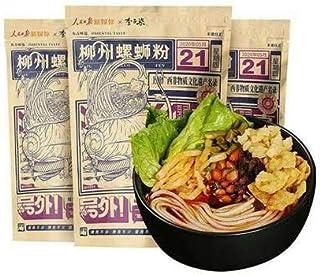 柳州螺?粉 李子?螺?粉 ルオスーフエン 中華名物 中華食材 広西省名物 速食 方便面 米粉 好吃的美食 パスタ 米? 335g (3パック)